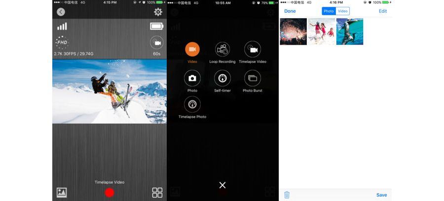 goaction apps camaras deportivas