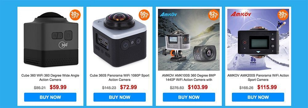 descuentos en cámaras 360 grados