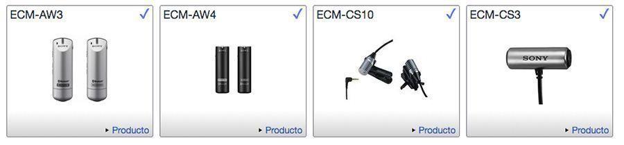microfonos sony action cameras