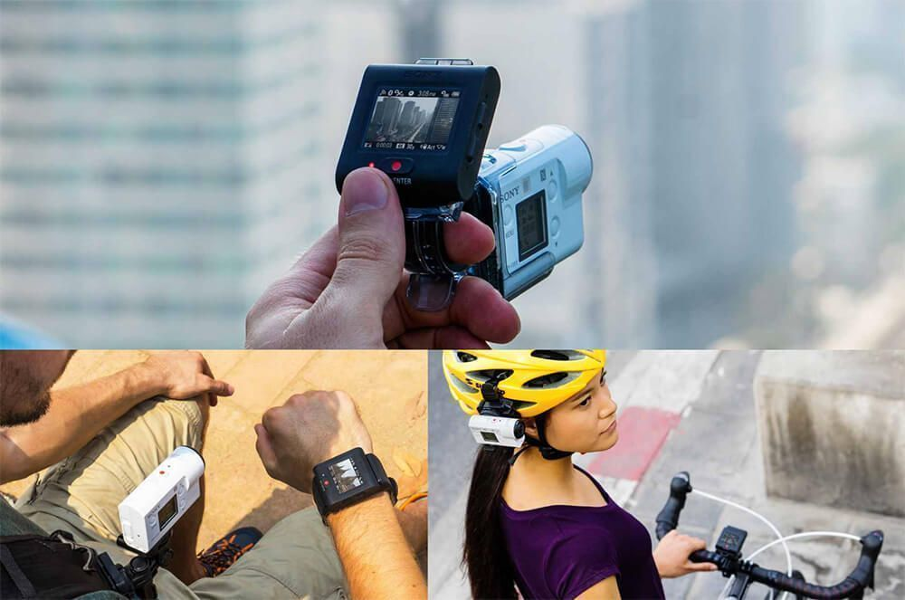 action cam fdr-x3000R live view