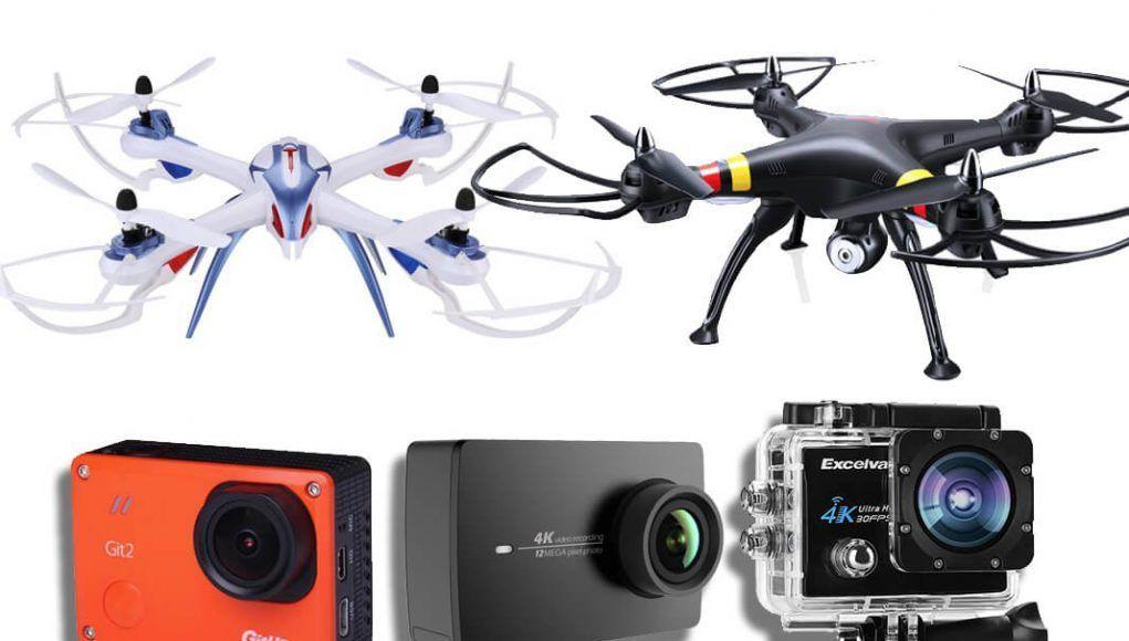 cámaras deportivas para drones
