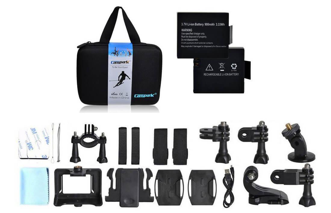 campark act74 accesorios incluidos