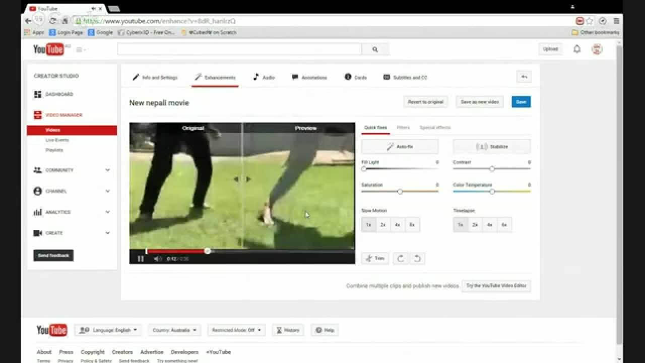 estabilizador video youtube