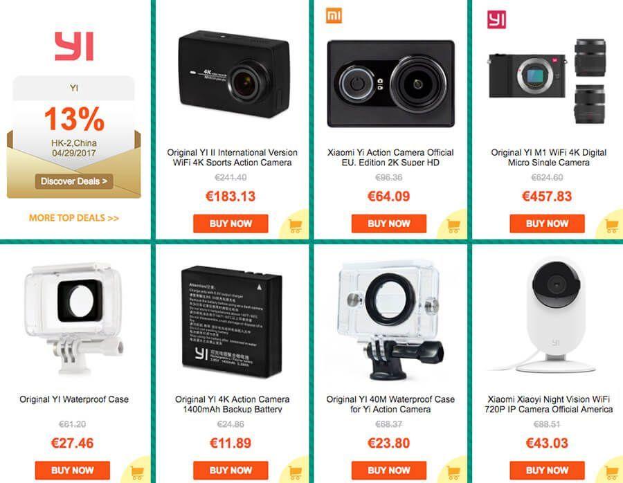 ofertas aniversario gearbest cámaras yi