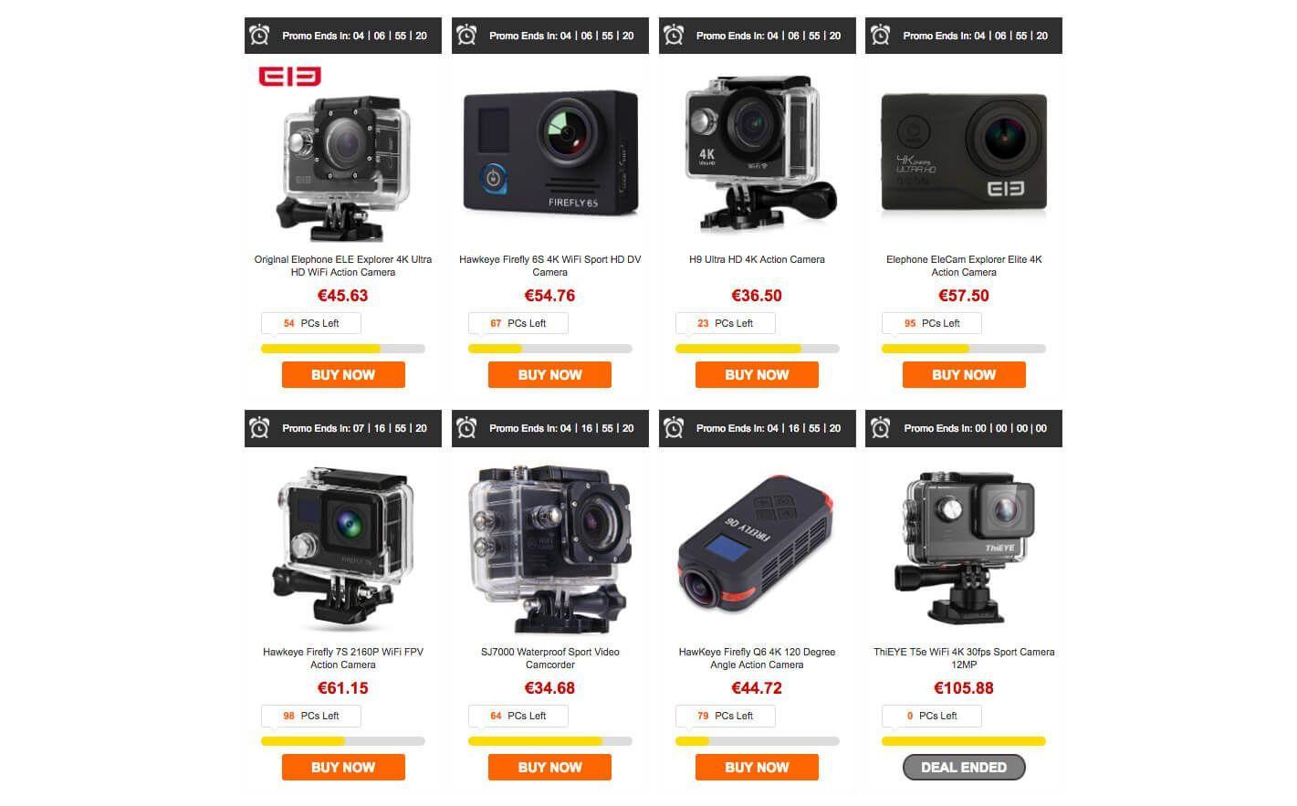 MgCool vs Elephone otras cámaras de acción
