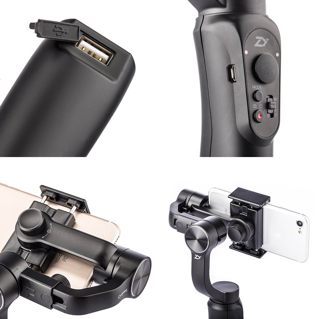 zhiyun smooth q bateria usb