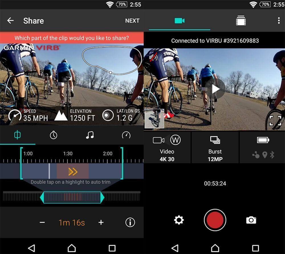 garmin virb 360 app