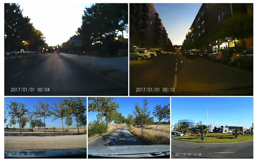 papago f10 dash cam capturas test
