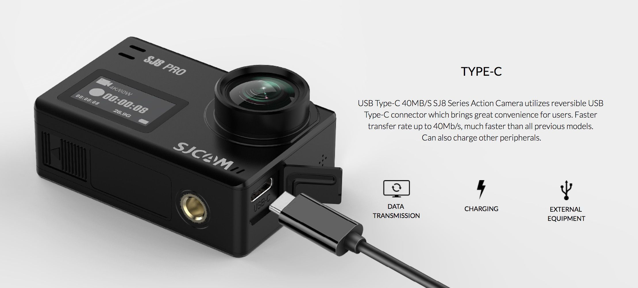 sjcam sj8 plus usb type c