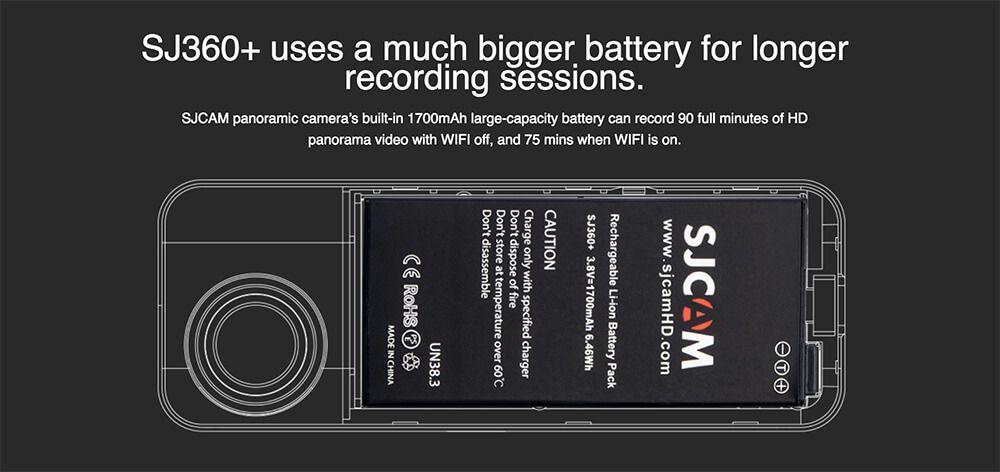 batería sjcam sj360+