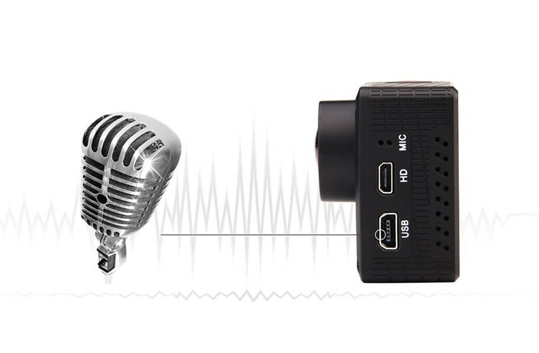 C maras deportivas microusb y micr fono externos for Microfono esterno xiaomi yi