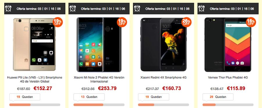 promocion almacén españa gearbest smartphones