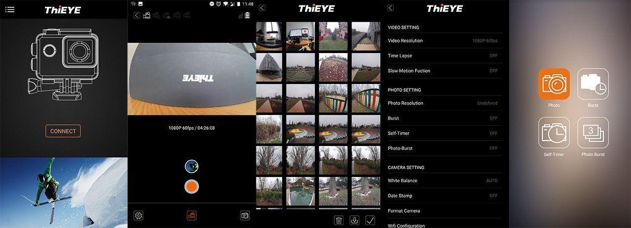 app thieye action cam