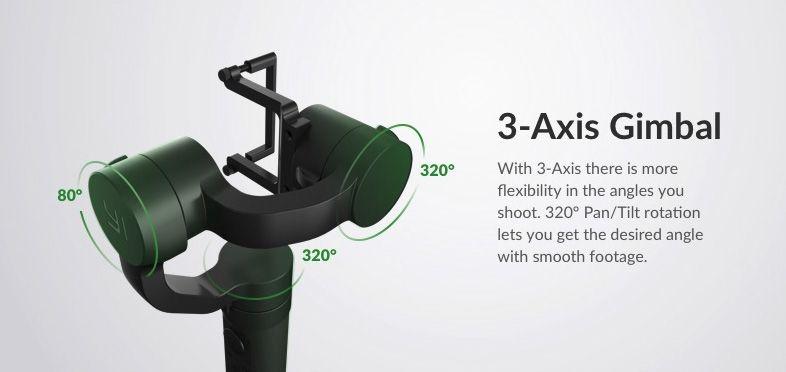 3 axis gimbal yi handheld 2