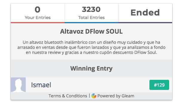 ganador sorteo dflow soul