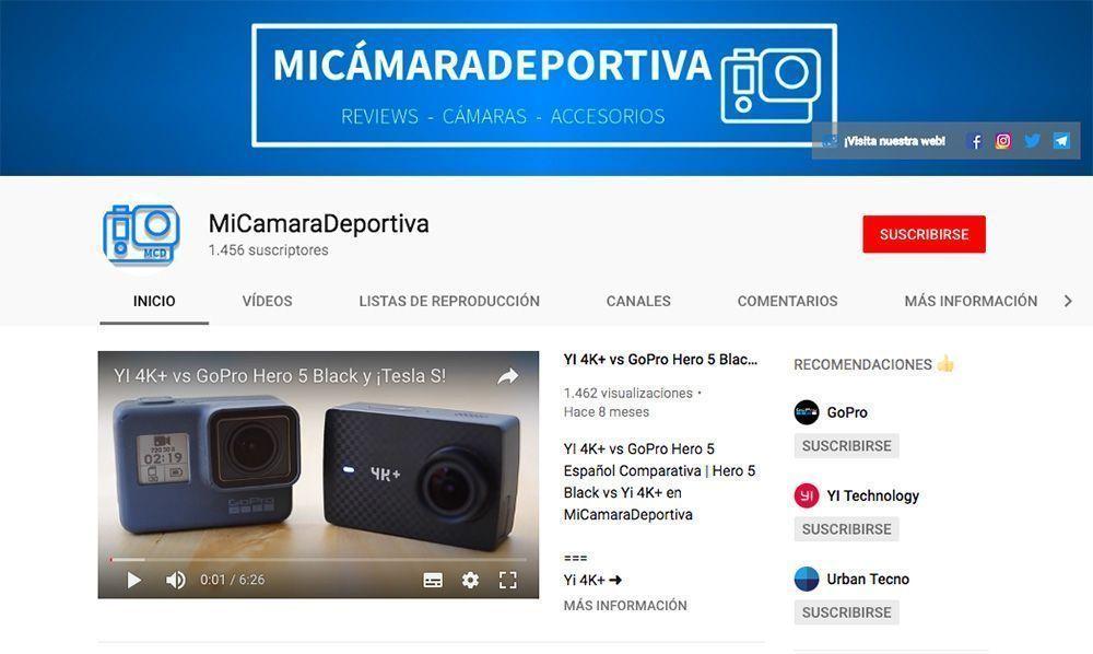 canal youtube micamaradeportiva