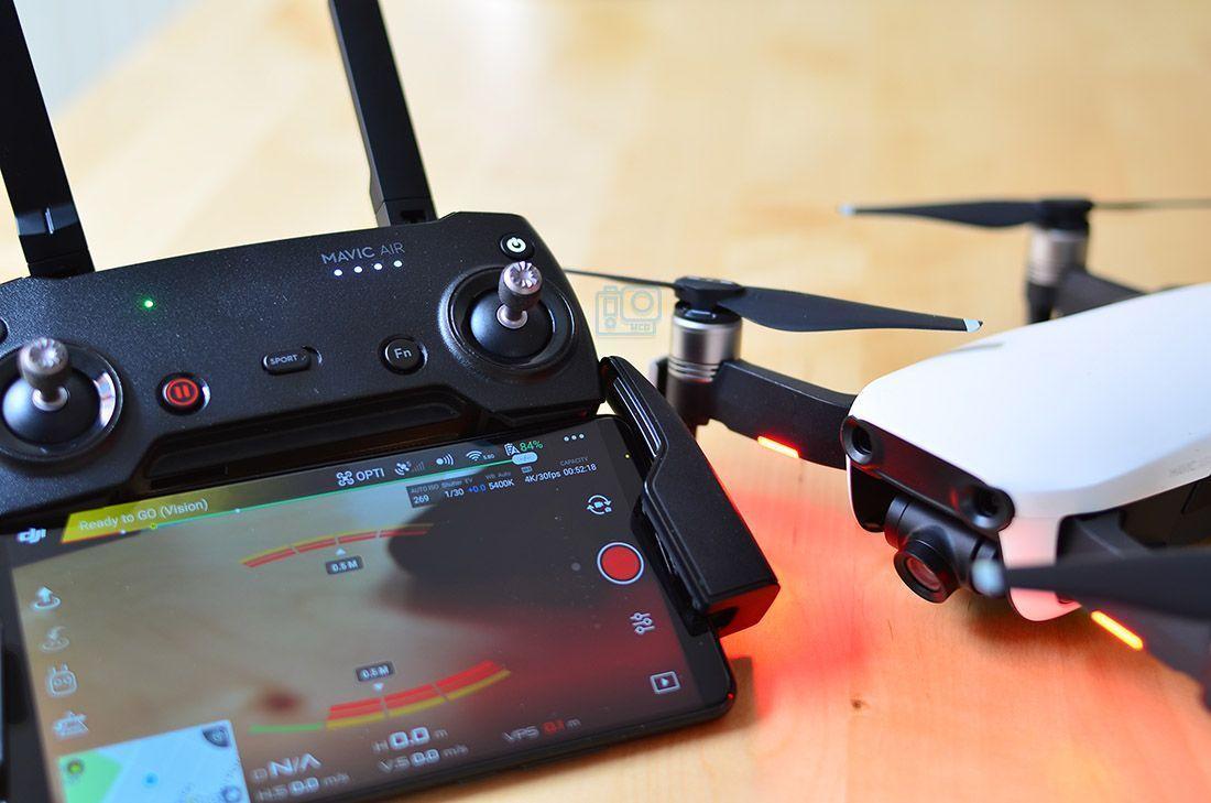 app dji mavic air dron