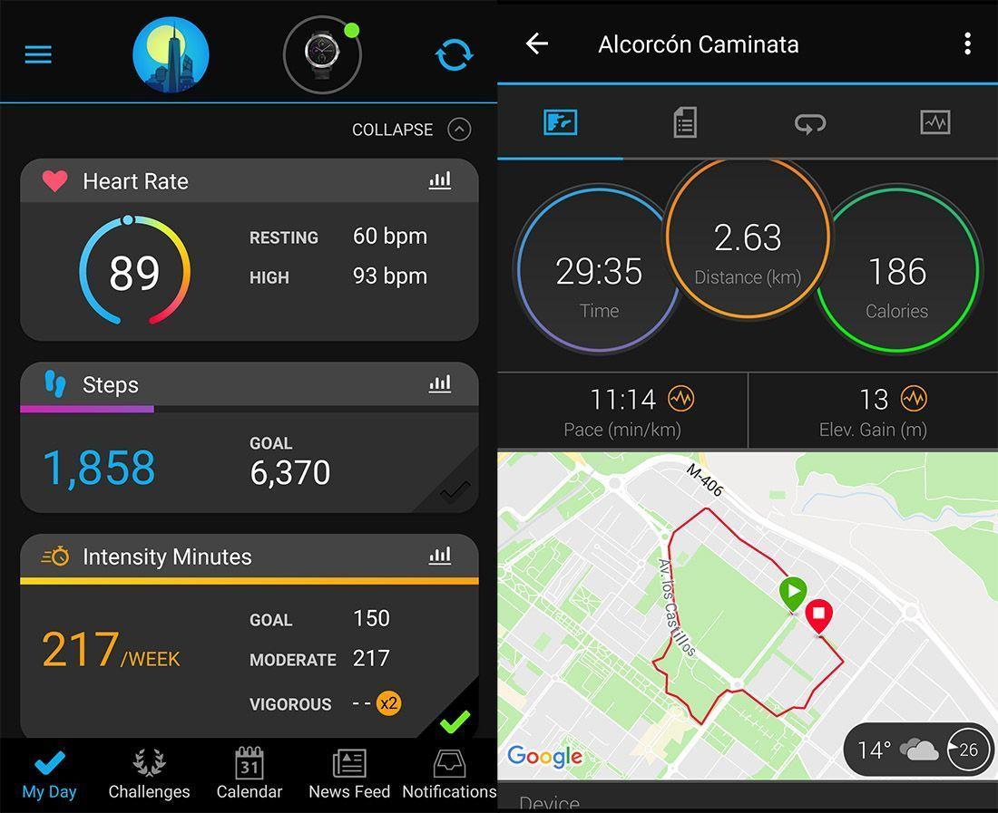 app garmin connect vivoactive 3