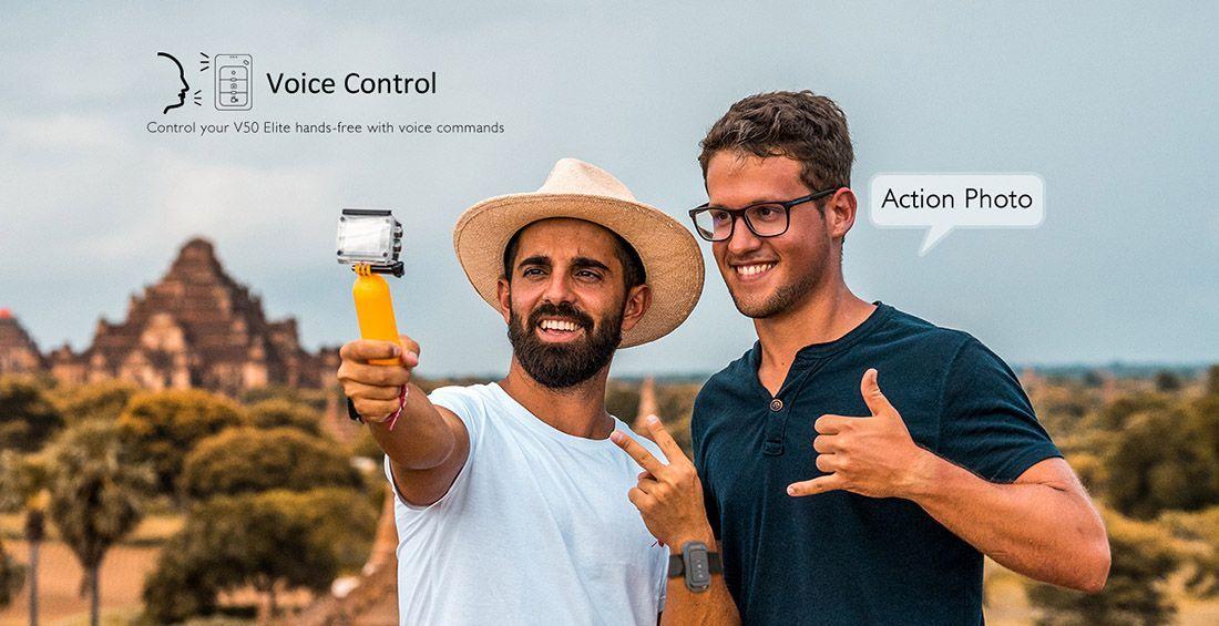 fotografia akaso v50 elite control por voz