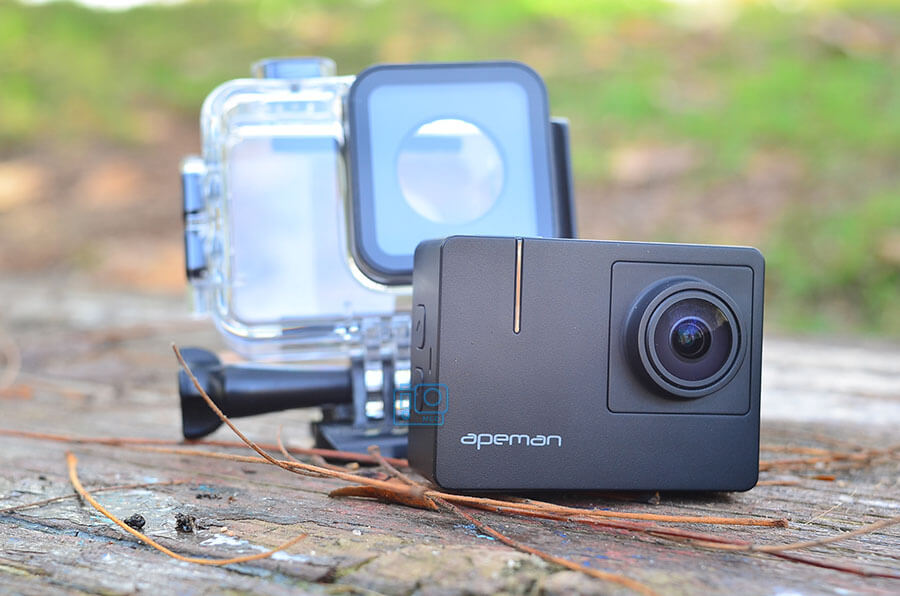 test apeman a100 trawo action camera 4k