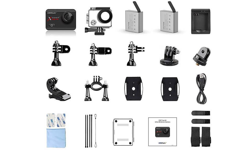 accesorios campark action camera 20mp