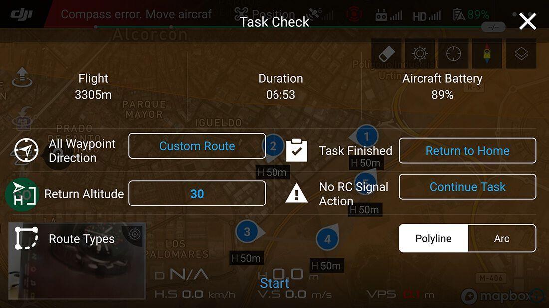 libreria rutas Dron Mavic 2 zoom