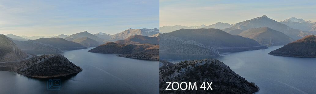 aumentos lente Dron Mavic 2 zoom