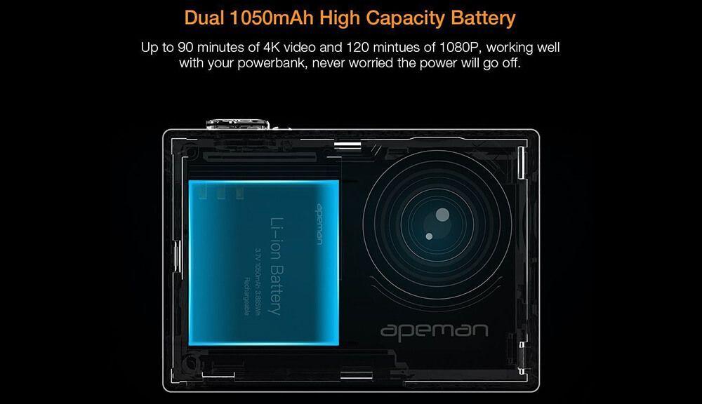 opinion español bateria apeman a77 4k