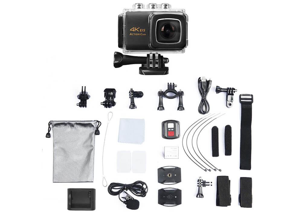 accesorios incluidos nine cube action camera