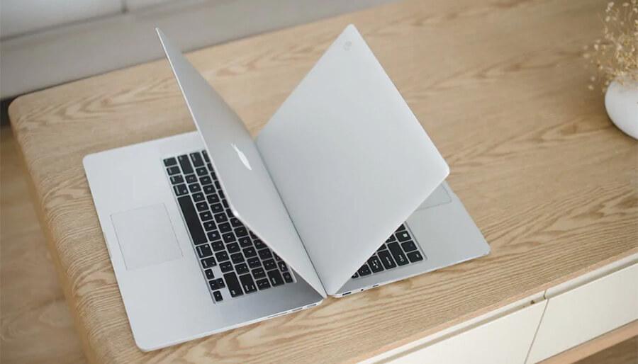 macbook air vs kbook notebook 13.5