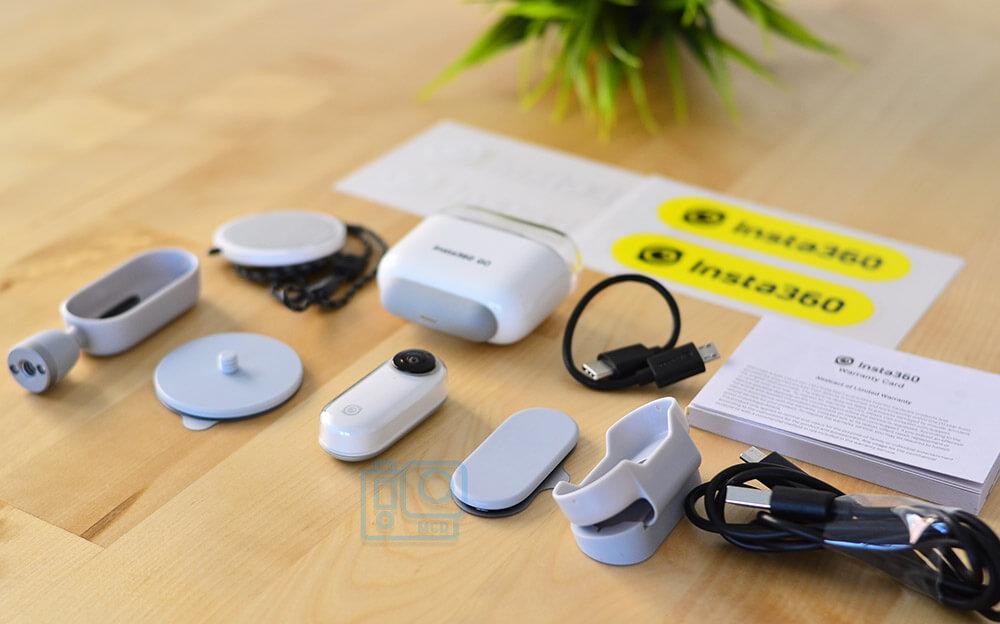 accesorios incluidos Insta360 GO español