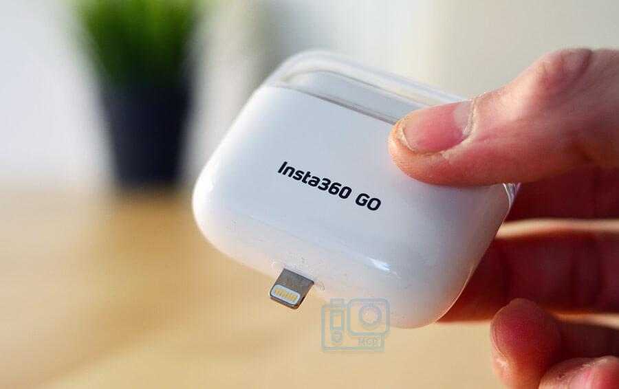 puerto iPhone estuche insta360 go
