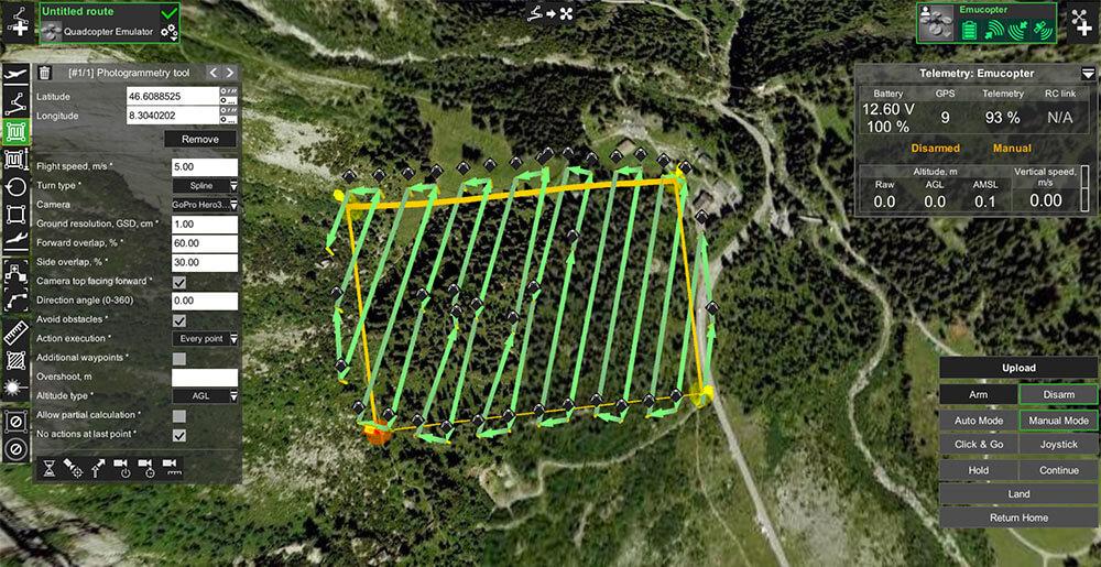 plan de vuelo grabar con dron
