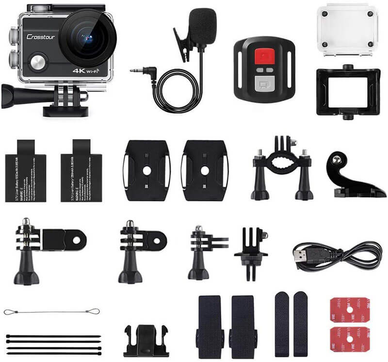 accesorios crosstour action cam 4k ct 8500