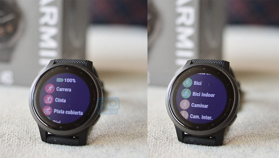 deportes disponibles garmin 4s