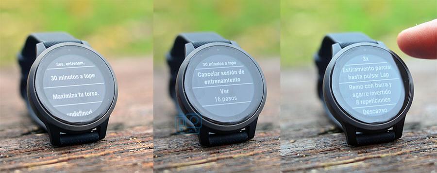 pasos entrenamientos reloj deportivo garmin vivoactive 4s