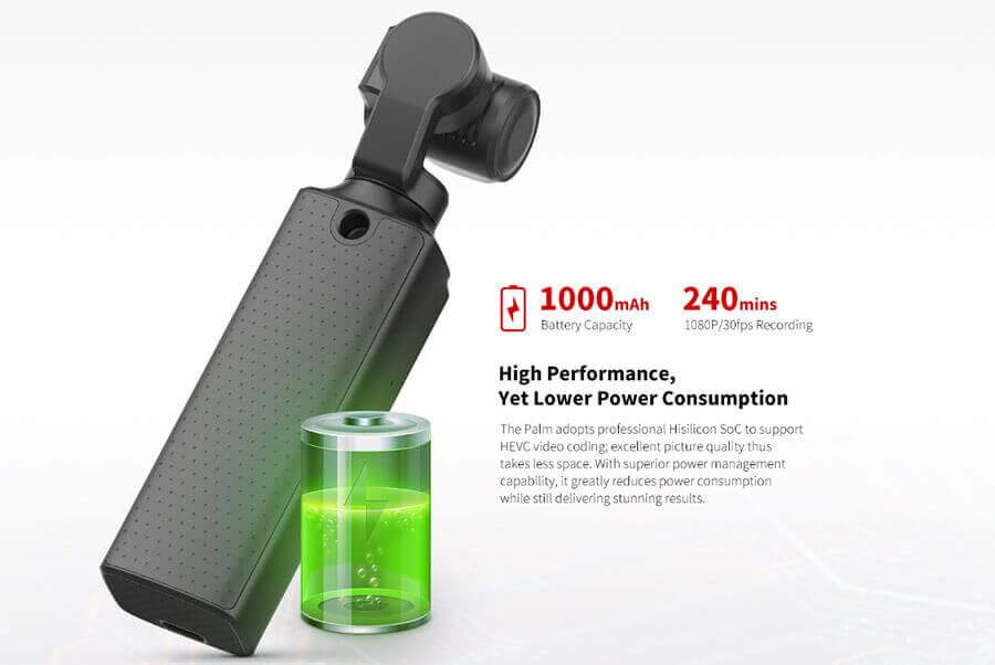 bateria 1000mAh xiaomi fimi palm gimbal camera