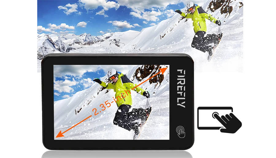 pantalla tactil 2,35 pulgadas firefly x