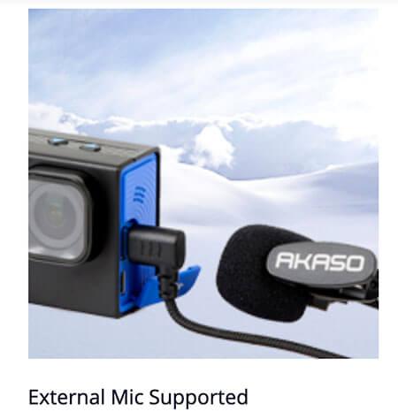 microfono externo akaso para brave 6 plus