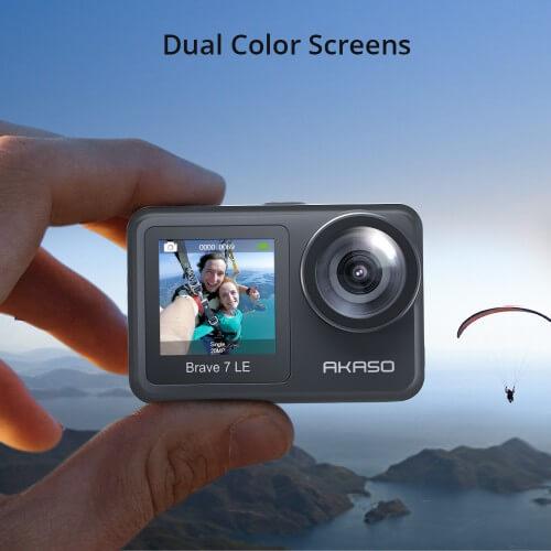 pantalla frontal color akaso 7 le
