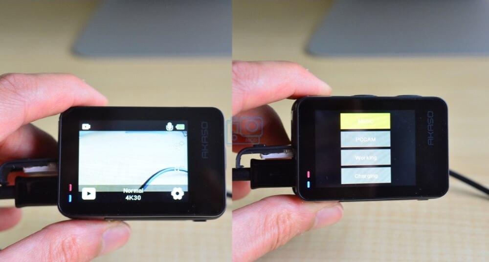 webcam mode AKASO Brave 7 le