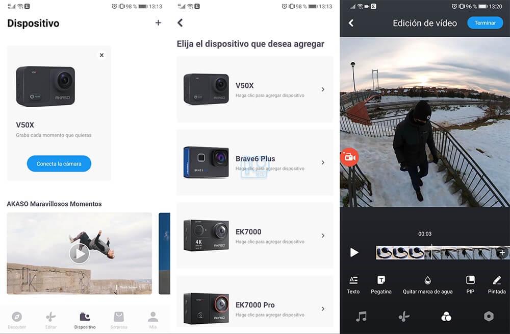 app akaso v50x android ios