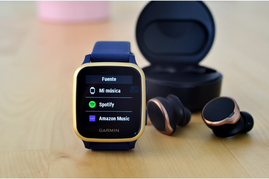 apps musica para smartwatch Garmin venu sq