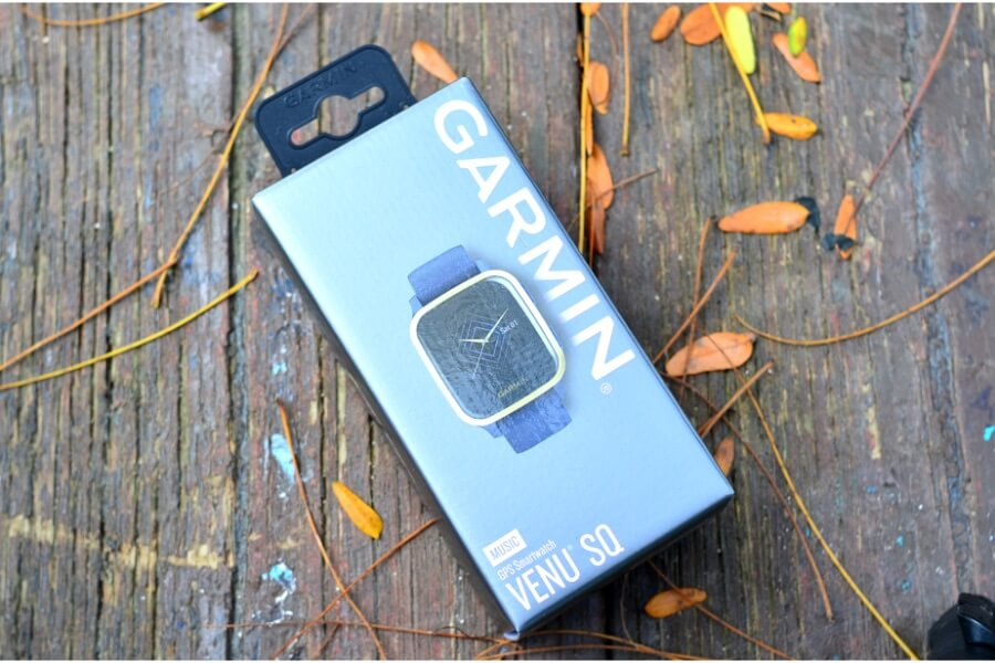 unboxing Garmin venu sq