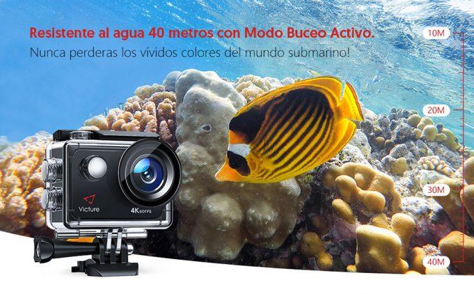 victure ac 920 cámara deportiva review analisis en español