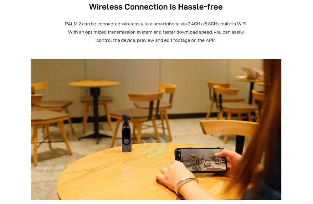 Fimi Palm 2 wifi bluetooth