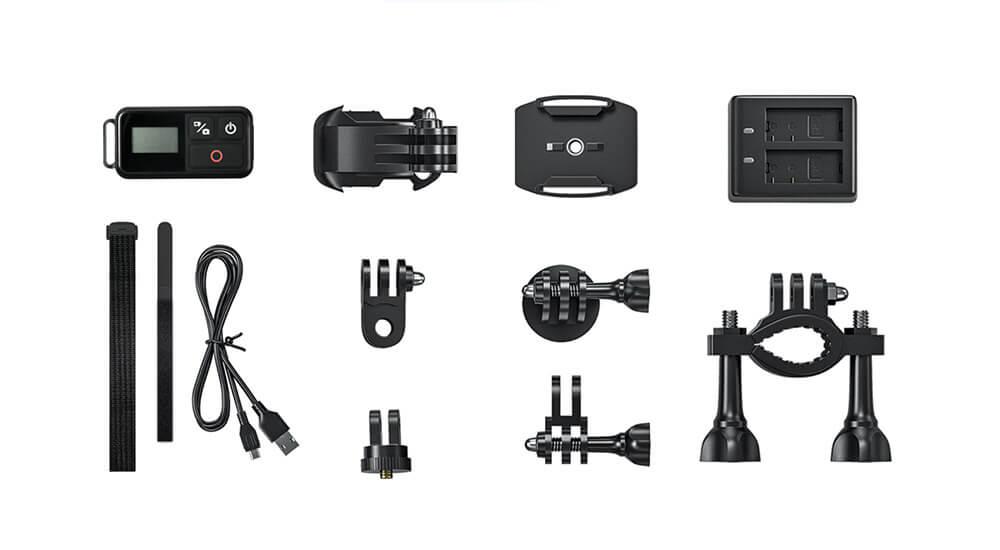accesorios incluidos akaso brave 7 español