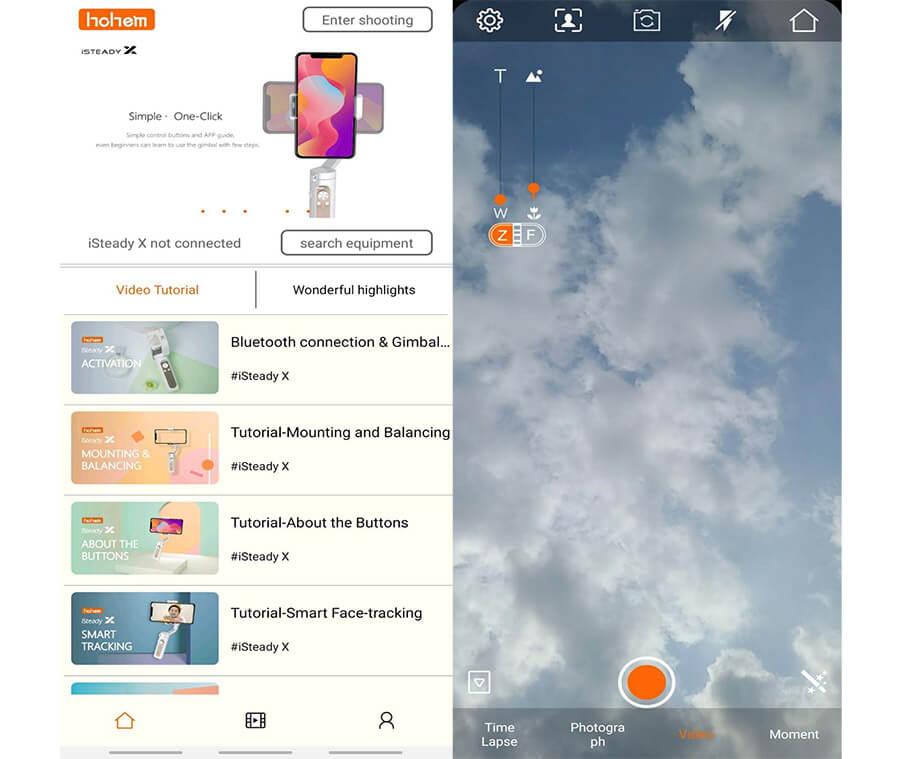app android iOS Hohem pro