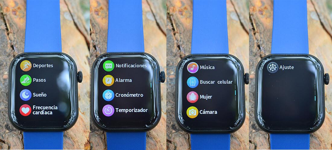 menu reloj inteligente cubot c5